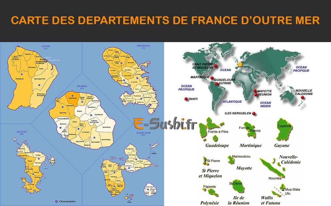 Carte Départements outre-mer