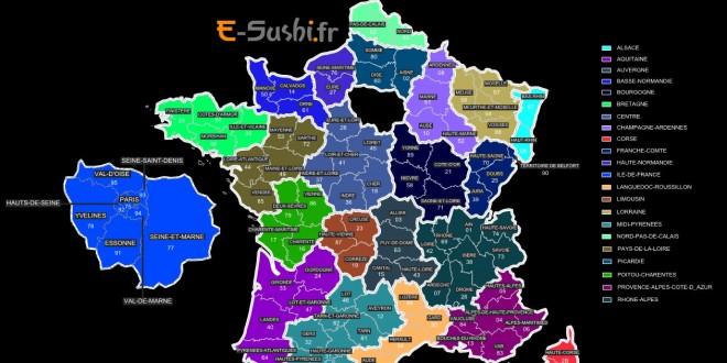 Carte des régions de France