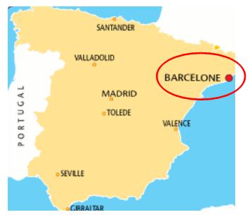 Carte Espagne-Barcelone