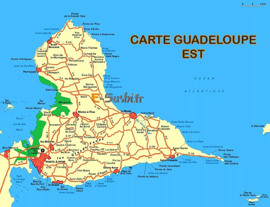carte-de-guadeloupe-ile-ouest-et-est