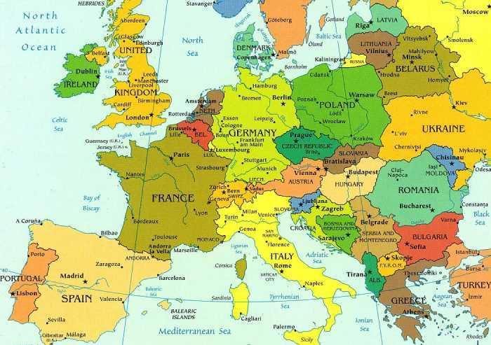 Carte Europe 2016
