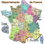Départements de France - Carte