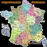 Départements de France - Carte