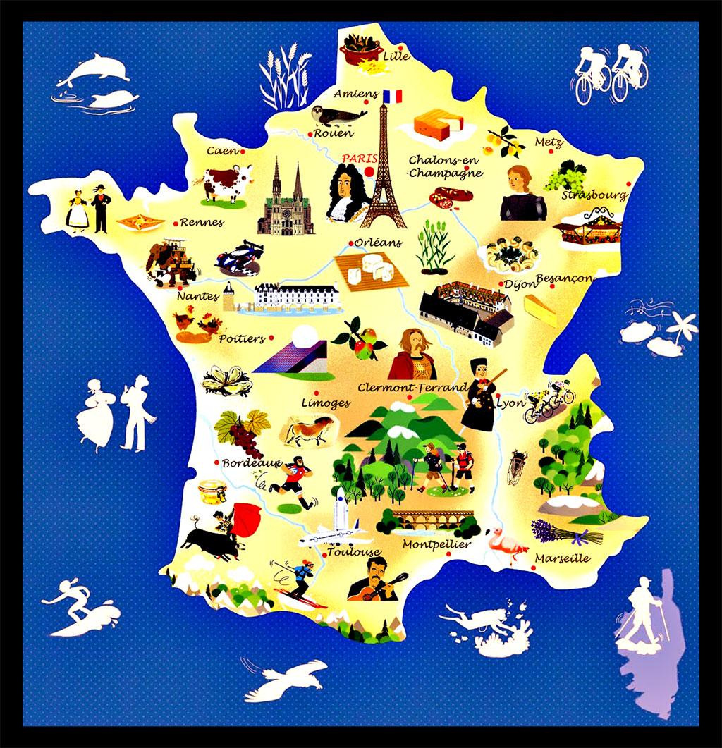 carte de la france touristique