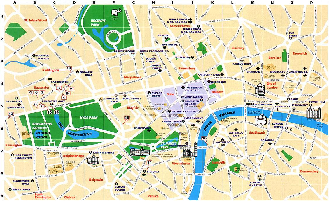 Carte - Londres
