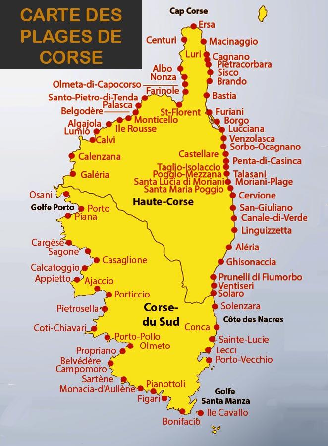 Infos Sur Carte Plage Corse Arts Et Voyages