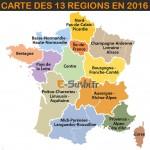 Les 13 régions : carte 2016