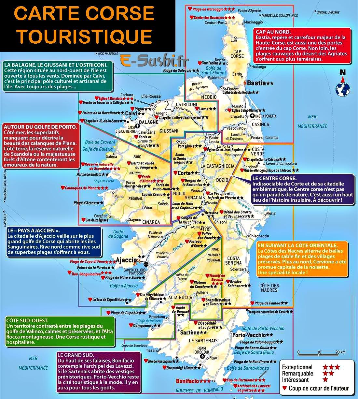 Carte corse images et photos arts et voyages for Carte touristique