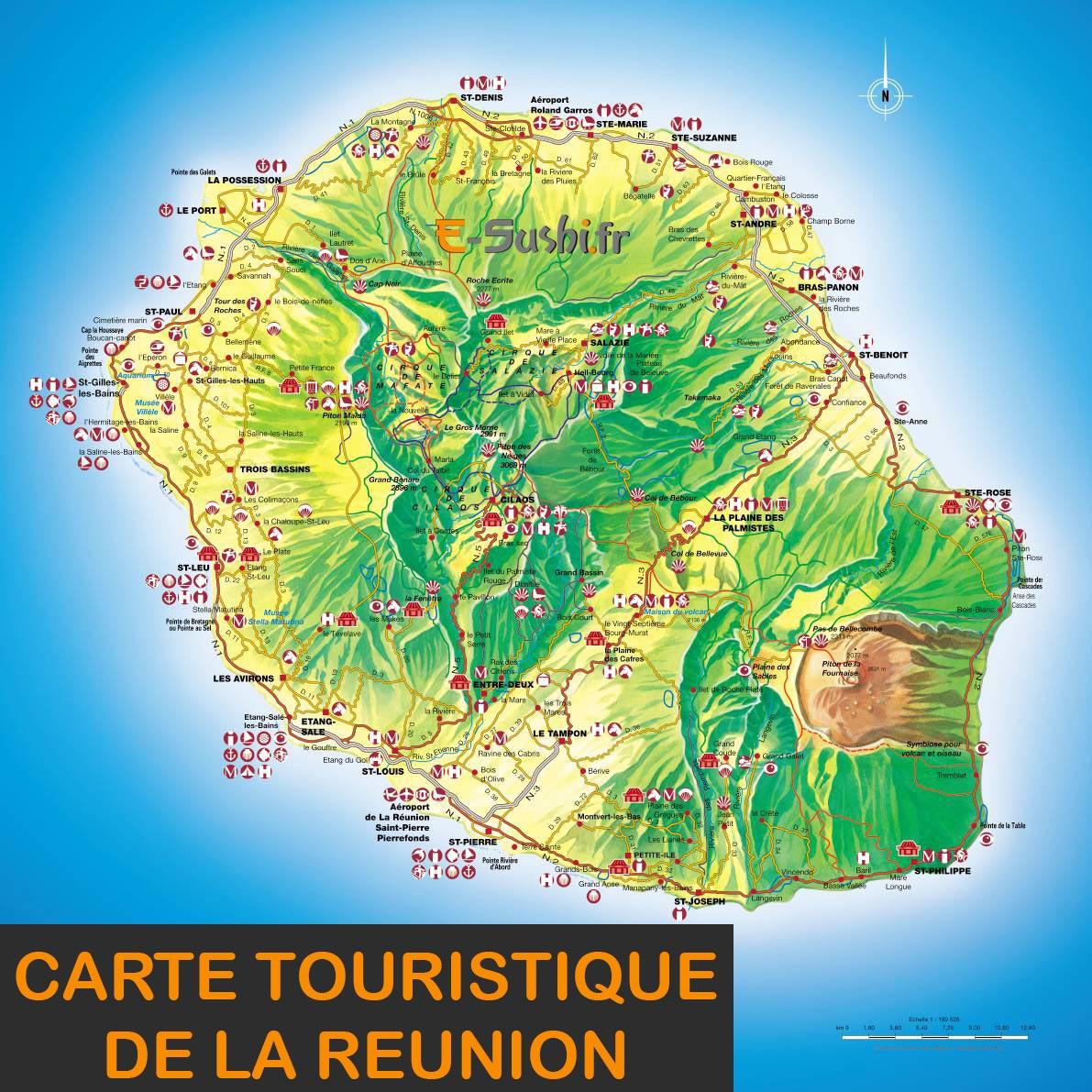 Réunion - Carte touristique