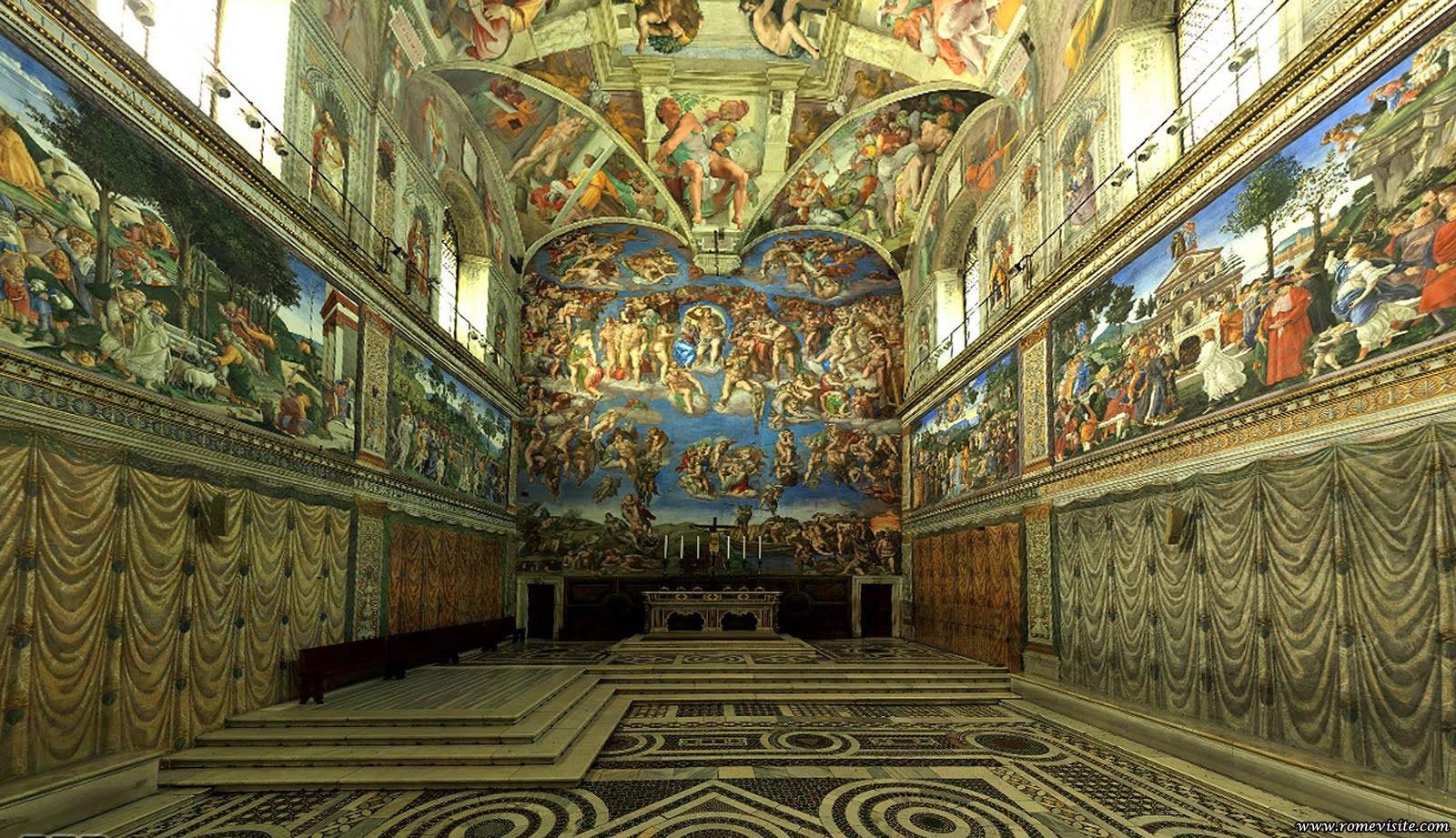 Rome capitale d italie arts et voyages for Exterieur chapelle sixtine