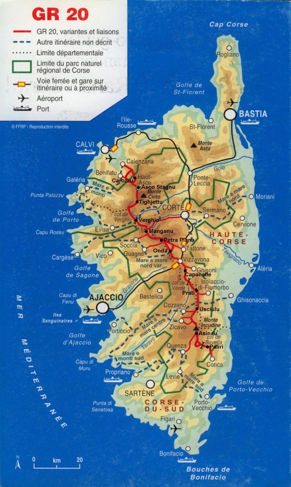 Carte de Corse - Département français