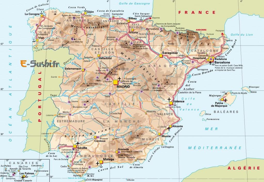 Espagne carte