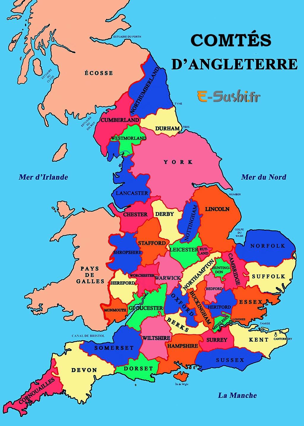 Comtés Angleterre