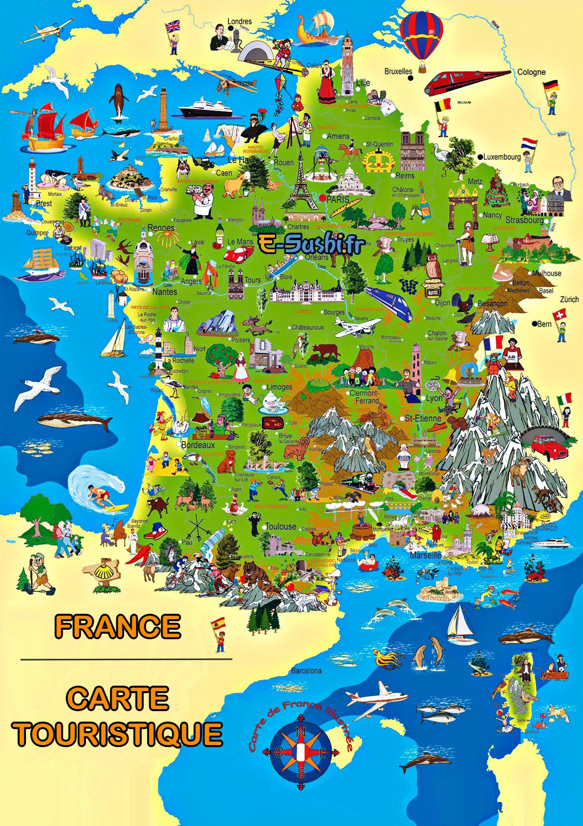 carte touristique france sud - Photo