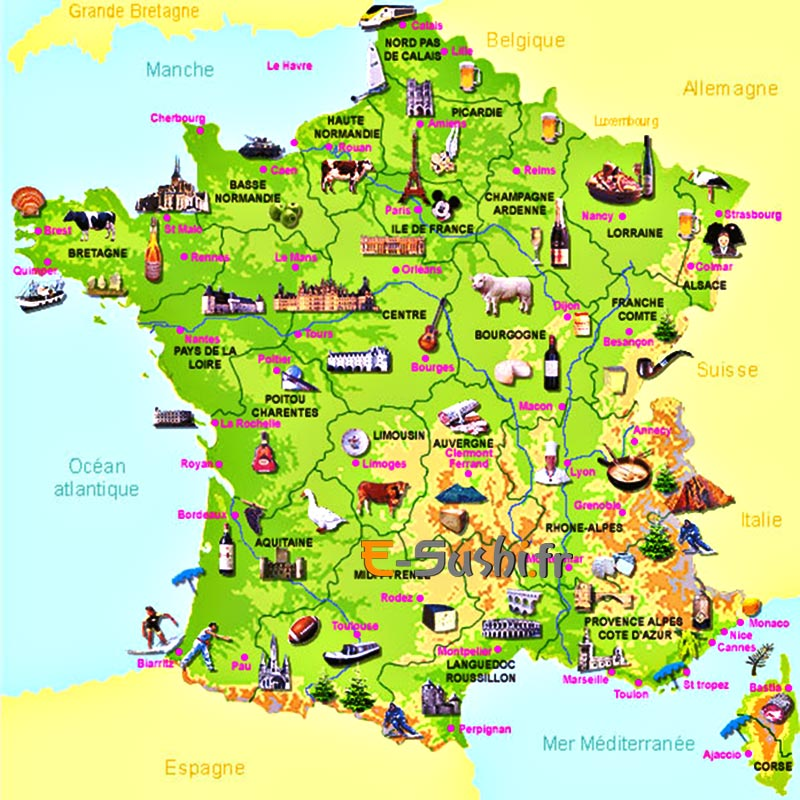 Carte de la France du terroir