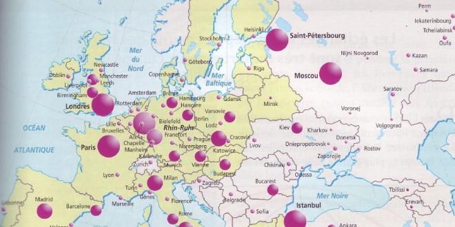 Carte Europe - Villes