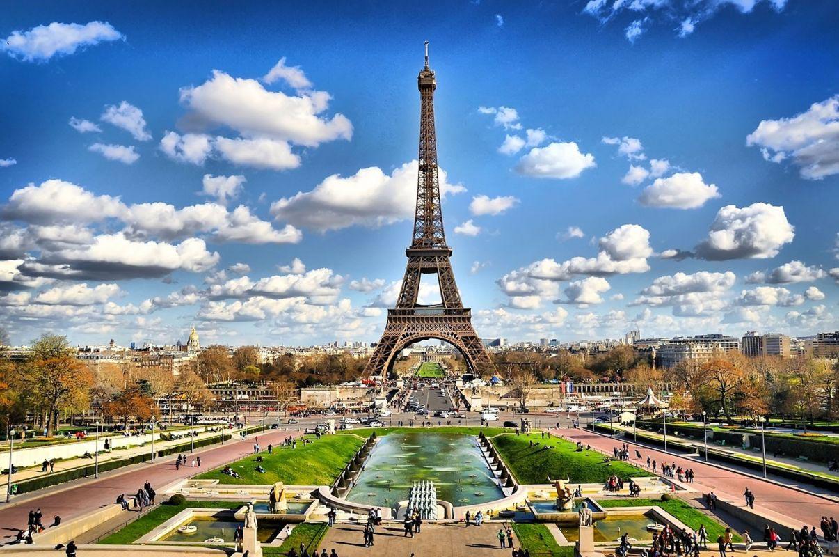 Illustration de la Tour Eiffel et du Jardin