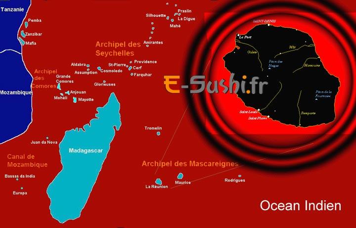 Géographie de la Réunion - Carte du monde