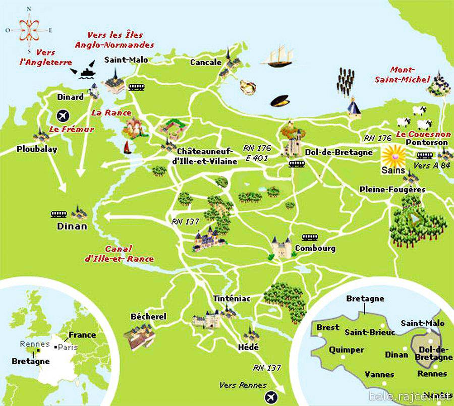 mont michel carte et plan arts et voyages
