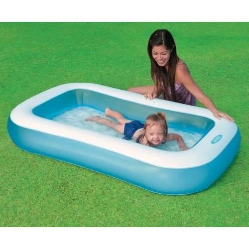 Piscine gonflable rectangulaire avec pompe for Auchan piscine gonflable