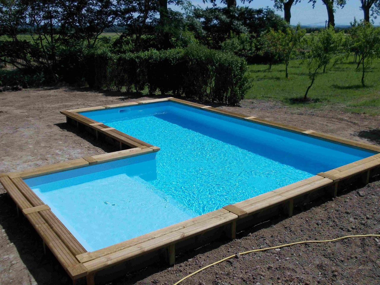 Preview Piscine kit bois semi enterree