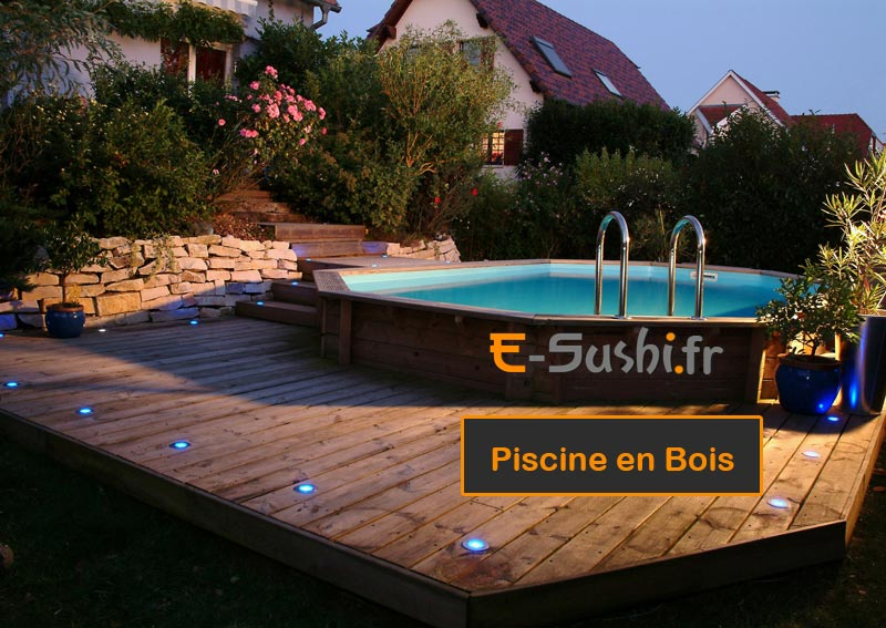 Terrasse bois piscine ovale for Article piscine