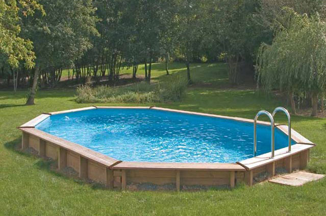Belle piscine ronde semi enterr e pas cher for Piscine metal pas cher
