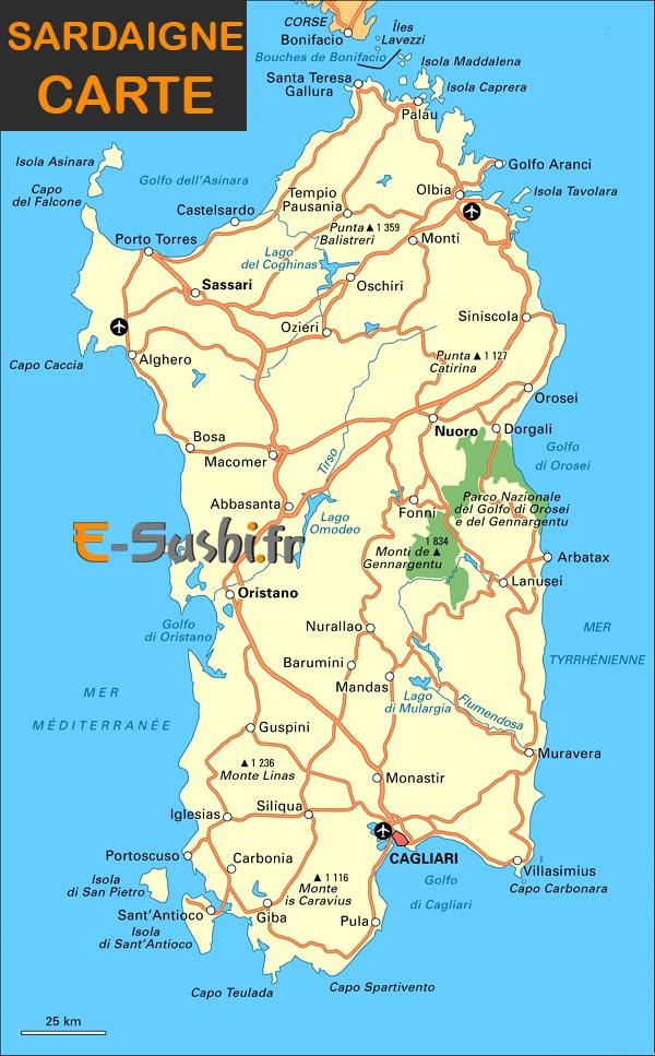 Sardaigne - Région Sud-Ouest Italie