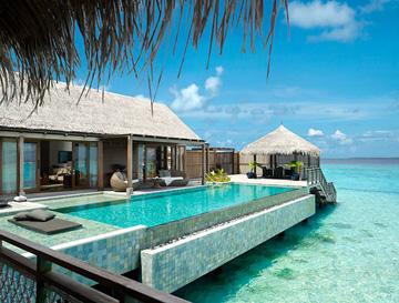 Un hôtel aux Maldives