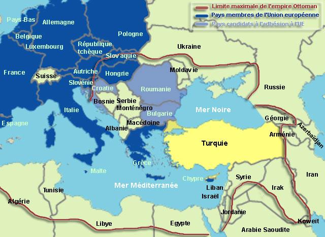 carte turquie - union européenne