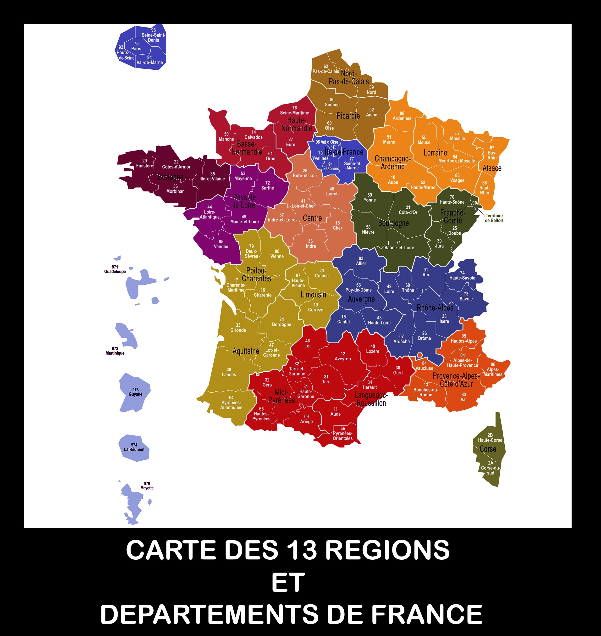 Carte-France-13 Regions