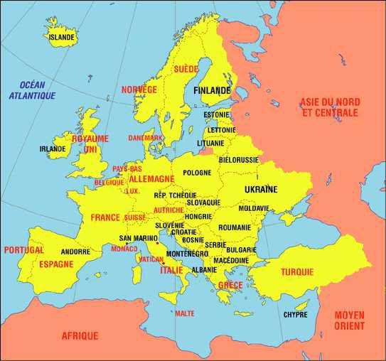 carte pays de l est Carte Europe de l'est   Images et Photos   Arts et Voyages