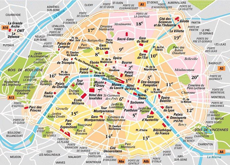 plan des rues de paris et arrondissements
