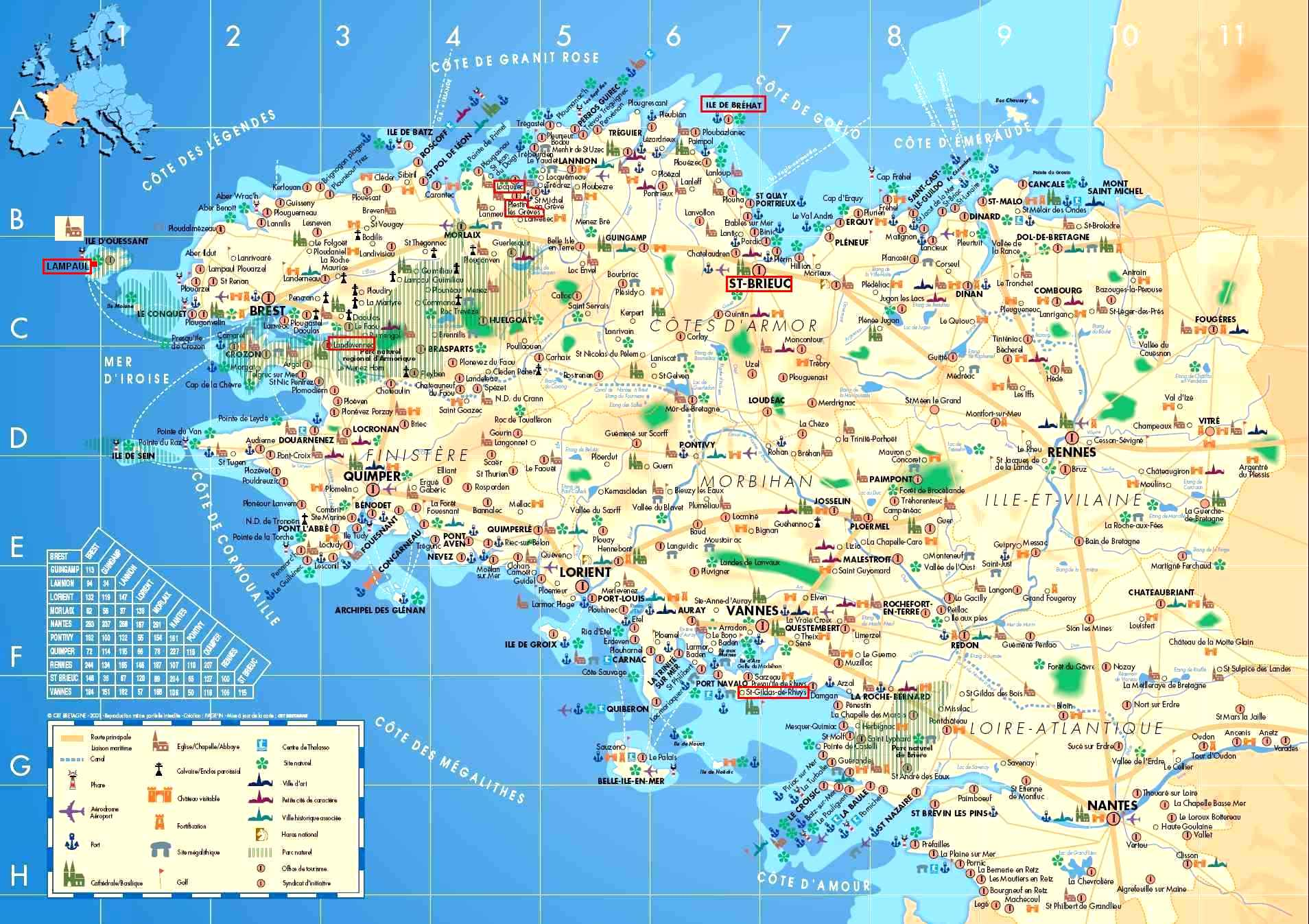 Bretagne Carte