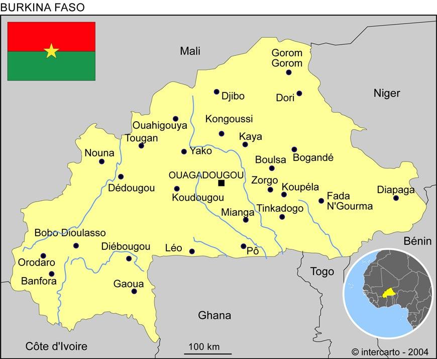 Burkina Faso - Carte