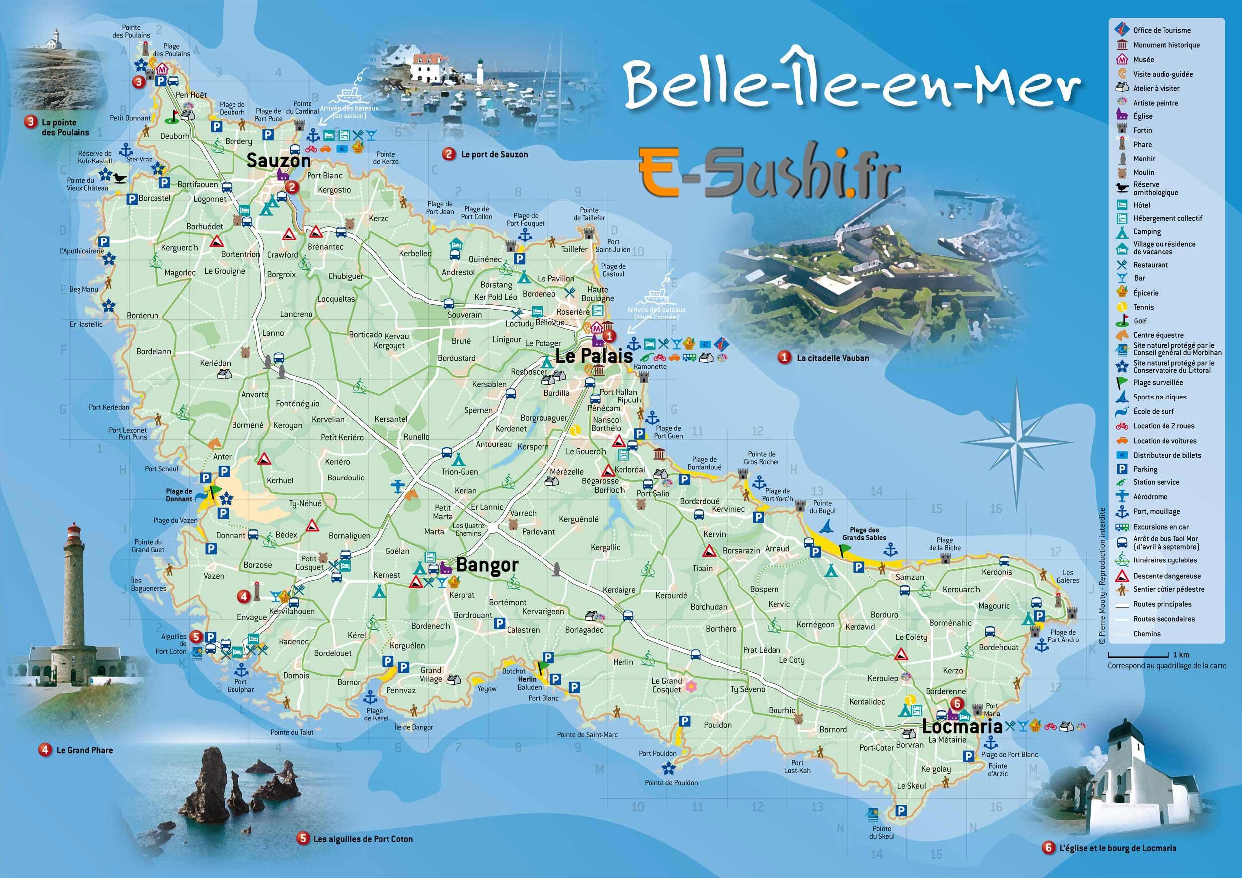 Bretagne - Carte de belle ile en mer