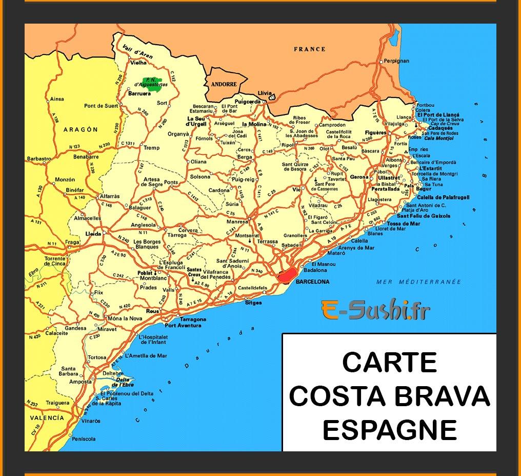 Carte Espagne Costa   Images | Arts et Voyages