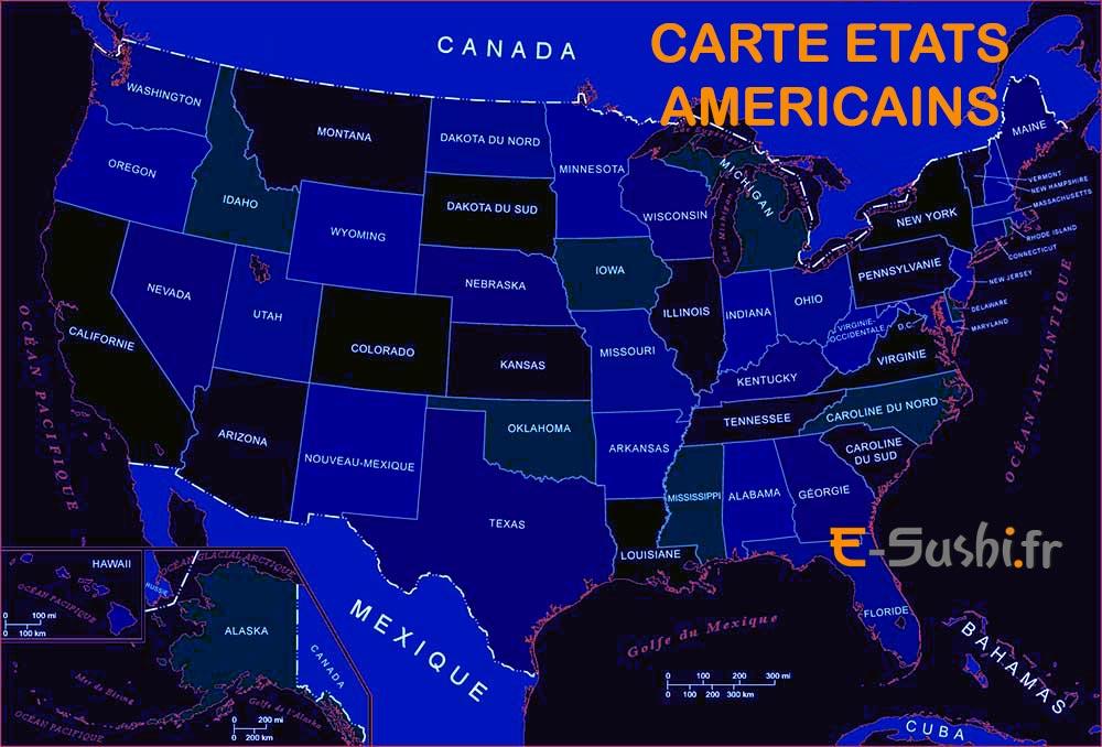 Carte des états américains
