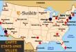 Carte Etats-Unis - Villes