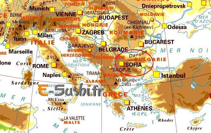 carte de l-europe du Sud-Est