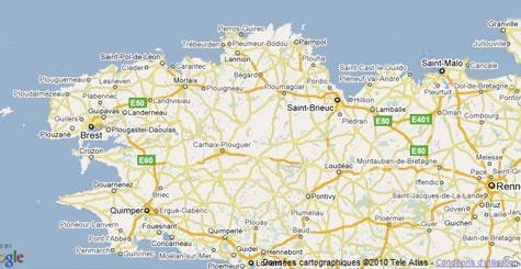Carte Bretagne Nord