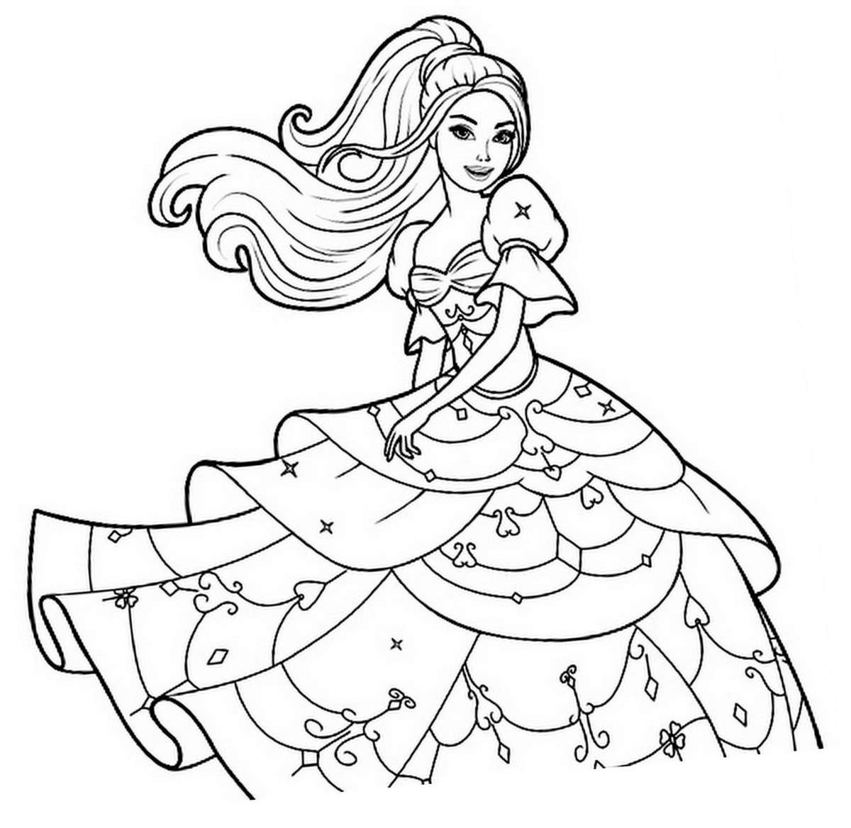 Image à colorier et imprimer : coloriage-princesse