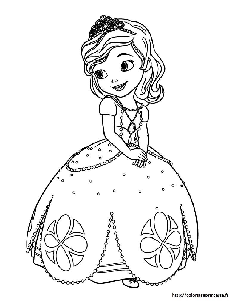 coloriage princesse image et dessins