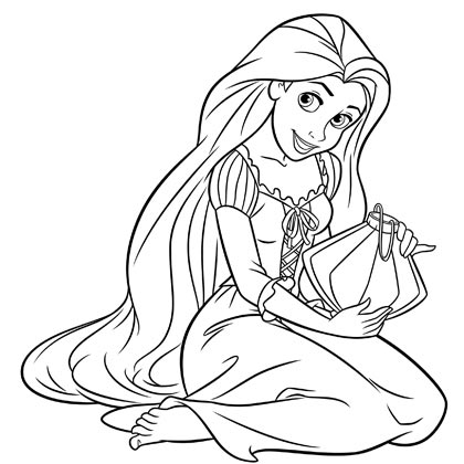 Coloriage princesse - Image et dessins - Arts et Voyages