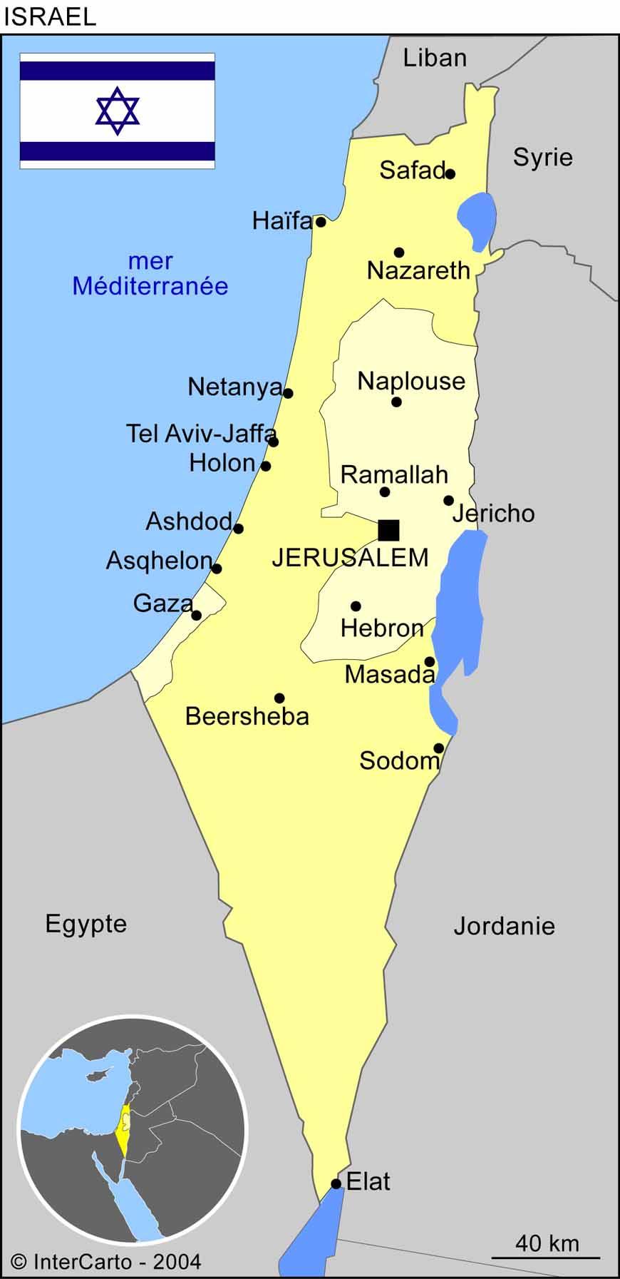 Carte Israel - Générale