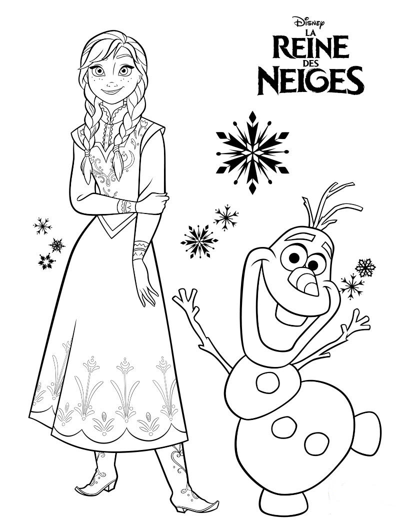 dessin de coloriage de la reine des neiges