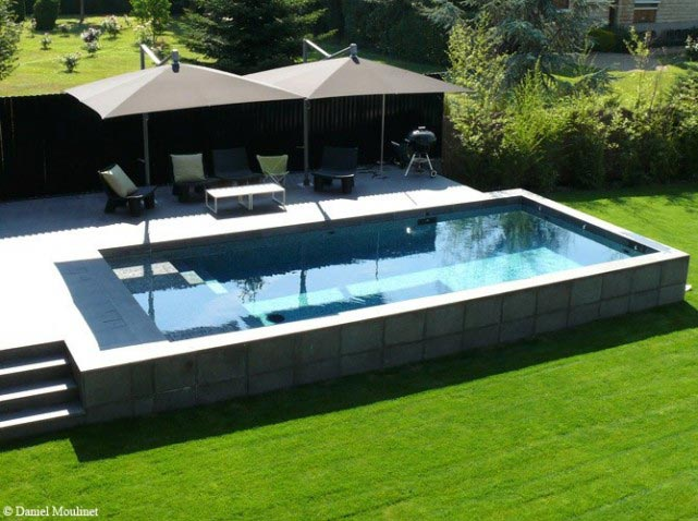 Piscine rectangulaire hors sol de r ve for Sol piscine