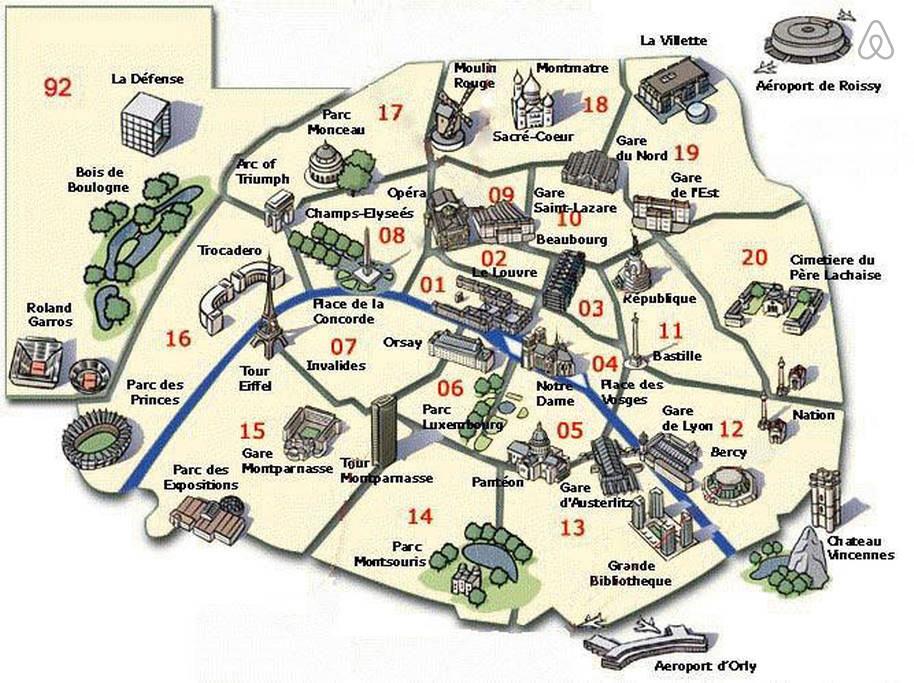 Plan de paris images et cartes arts et voyages for Carte touristique de paris