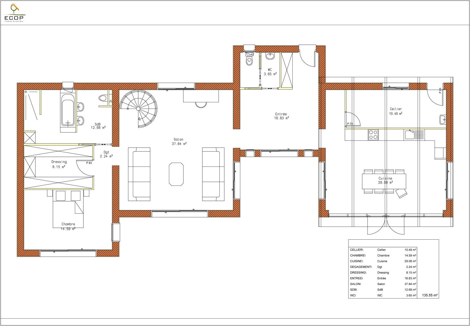 Stunning plan de maison de luxe plain pied gallery for Plain pied plan