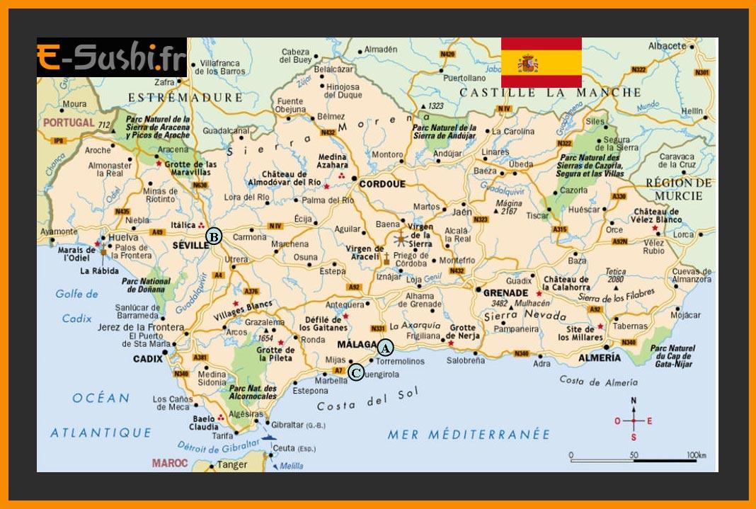 Carte Geographique Andalousie.Carte Andalousie Images Et Plans Arts Et Voyages